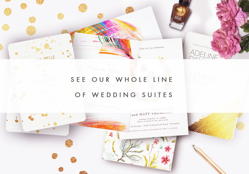 Beautiful Simple Modern Wedding invitations for the bride to be