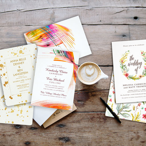 Modern Simple Wedding invitations for the bride to be